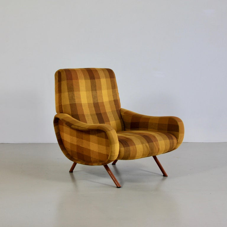 Pair of Original Lady Armchairs by Marco Zanuso, Arflex Italy In Fair Condition For Sale In Berlin, Berlin