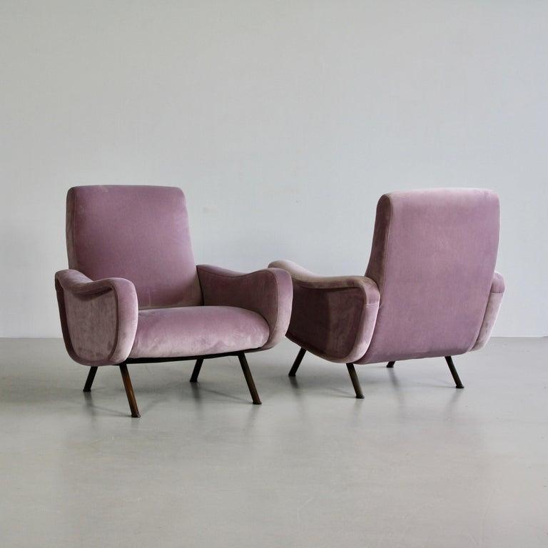 Italian Pair of Original Lady Armchairs by Marco Zanuso, Arflex Italy
