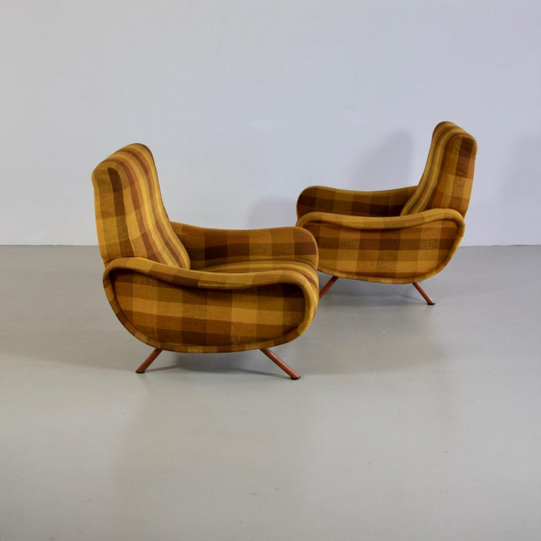 Pair of Original Lady Armchairs by Marco Zanuso, Arflex Italy For Sale 1