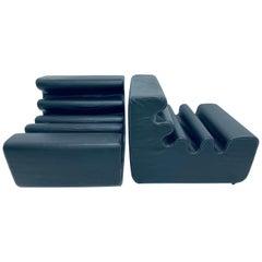 "Pair of Original Liisi Beckmann Matte Black ""Karelia"" Chairs for Zanotta, 1960s"