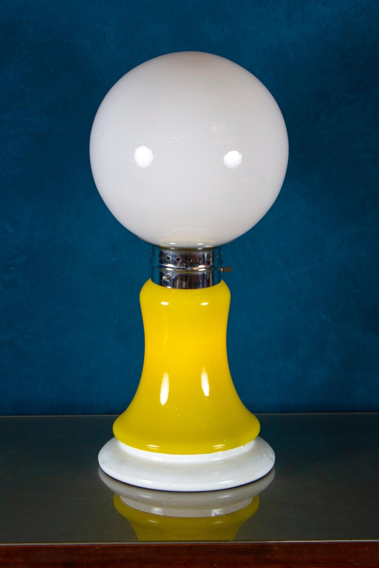 Mid-Century Modern Pair of Original Mazzega Table Lamps 1960' For Sale