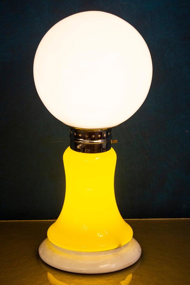European Pair of Original Mazzega Table Lamps 1960' For Sale
