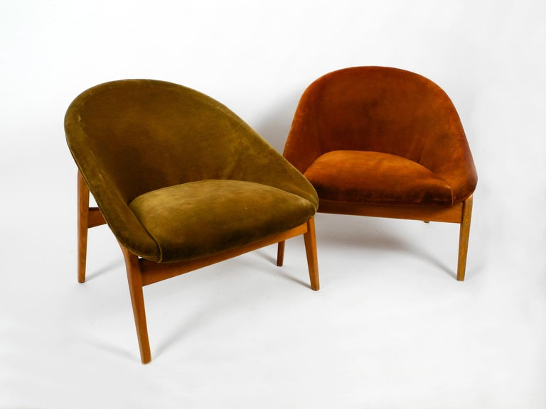 Mid-Century Modern Pair of Original Midcentury Lounge Chairs by Hartmut Lohmeyer for Artifort For Sale