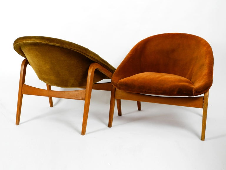 Dutch Pair of Original Midcentury Lounge Chairs by Hartmut Lohmeyer for Artifort For Sale
