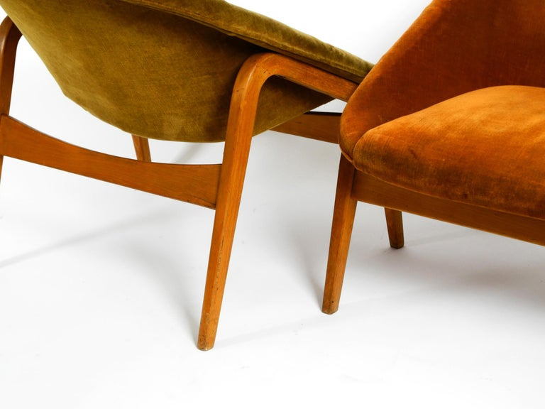 Pair of Original Midcentury Lounge Chairs by Hartmut Lohmeyer for Artifort In Good Condition For Sale In München, DE