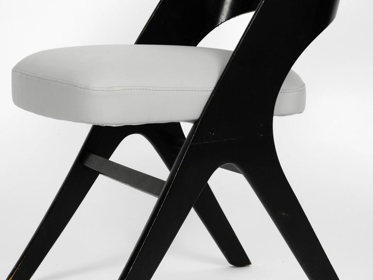Pair of Original Mid-Century Modern Black and Grey Chair, Carl Sasse for Casala For Sale 5