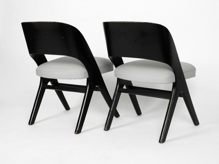 Pair of Original Mid-Century Modern Black and Grey Chair, Carl Sasse for Casala In Good Condition For Sale In München, DE