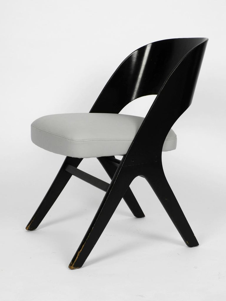 Mid-20th Century Pair of Original Mid-Century Modern Black and Grey Chair, Carl Sasse for Casala For Sale