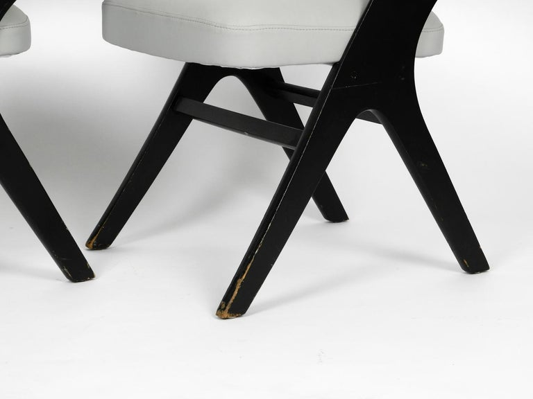 Pair of Original Mid-Century Modern Black and Grey Chair, Carl Sasse for Casala For Sale 1