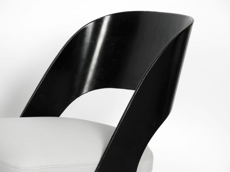 Pair of Original Mid-Century Modern Black and Grey Chair, Carl Sasse for Casala For Sale 2