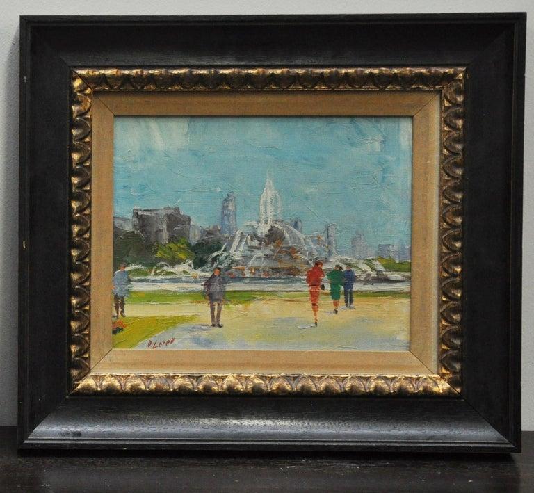 Beautiful pair of framed original oils. Actual images measure 9.5