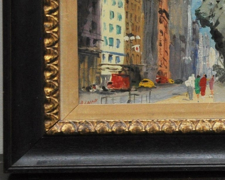 Hand-Painted Pair of Original Oil Paintings of Chicago Icons For Sale