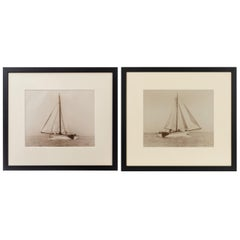 Pair of Original Prints of the Dutch Sailing Yacht Verona Signed Kirk Cowes