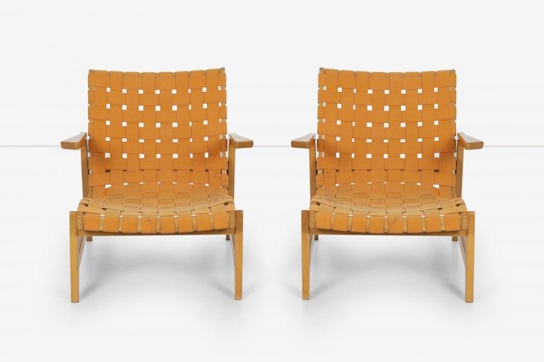 American Pair of Rare Historical Original Ralph Rapson Greenbelt Lounge Chairs 1945 For Sale