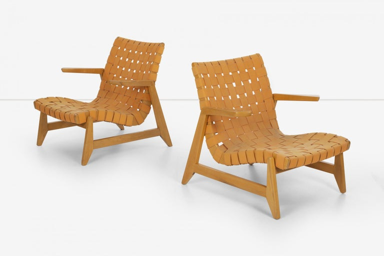 Pair of Rare Historical Original Ralph Rapson Greenbelt Lounge Chairs 1945 In Good Condition For Sale In Chicago, IL