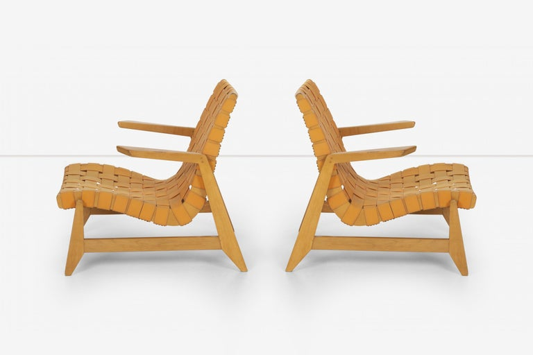 Mid-20th Century Pair of Rare Historical Original Ralph Rapson Greenbelt Lounge Chairs 1945 For Sale