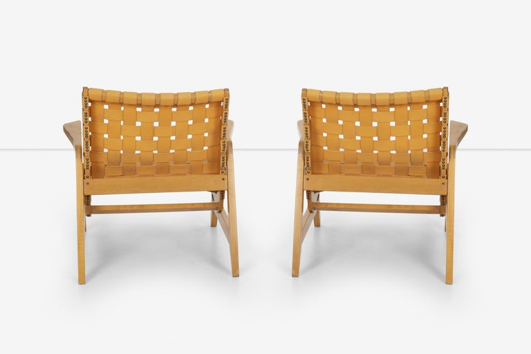Pair of Rare Historical Original Ralph Rapson Greenbelt Lounge Chairs 1945 For Sale 1
