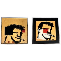 Pair of Original Robert Loughlin Paintings