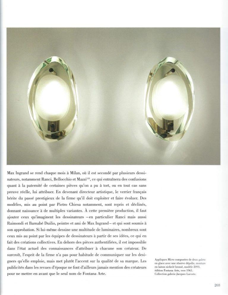 Pair of Wall Sconces by Max Ingrand for Fontana Arte Model 2093, Italy, 1961 For Sale 1