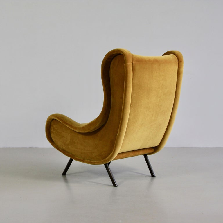 Mid-20th Century Pair of Original Senior Armchairs by Marco Zanuso, Arflex, Italy For Sale