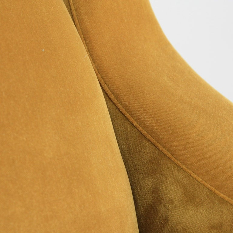 Velvet Pair of Original Senior Armchairs by Marco Zanuso, Arflex, Italy For Sale