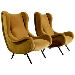 Pair of Original Senior Armchairs by Marco Zanuso, Arflex, Italy