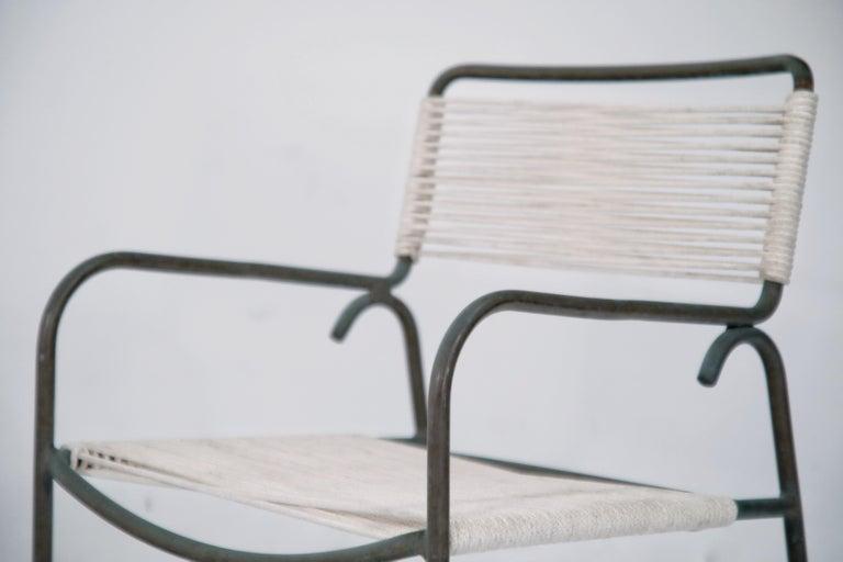 Pair of Original Walter Lamb for Brown Jordan Armchairs, New Cording, circa 1959 For Sale 5