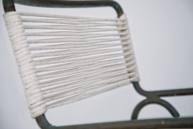 Rope Pair of Original Walter Lamb for Brown Jordan Armchairs, New Cording, circa 1959 For Sale