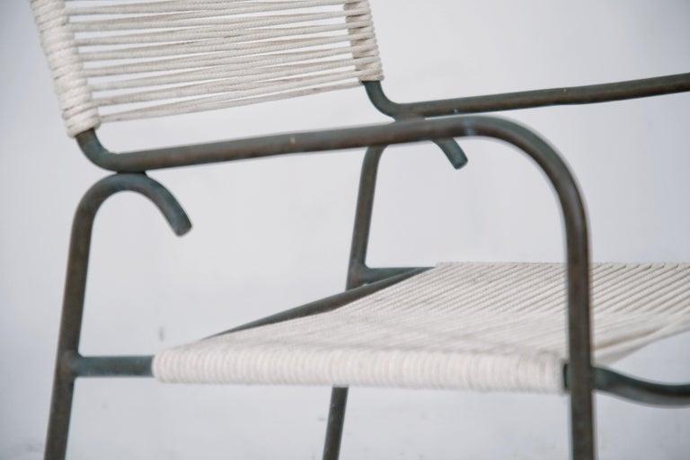Pair of Original Walter Lamb for Brown Jordan Armchairs, New Cording, circa 1959 For Sale 1