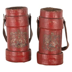 Pair of Original WW1 Military Cordite Charge Carriers