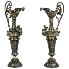 Pair of Ornamental French Vases, circa 1890