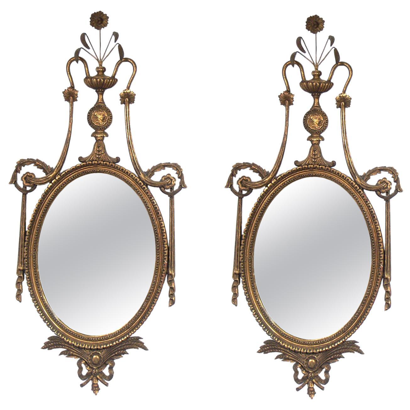 Pair of Ornate 1940s Gilt Mirrors