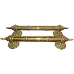 Pair of Ornate Brass Door Handles or Pulls