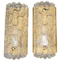 Pair of Orrefors Wall Sconces