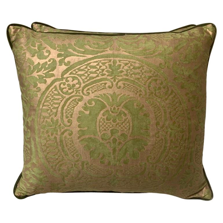 Pair of Orsini Patterned Fortuny Textile Pillows