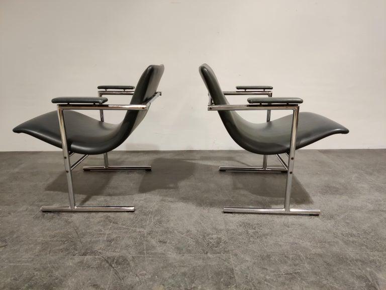 Mid-Century Modern Pair of Oslo Lounge Chairs by Rudi Verelst, 1970s