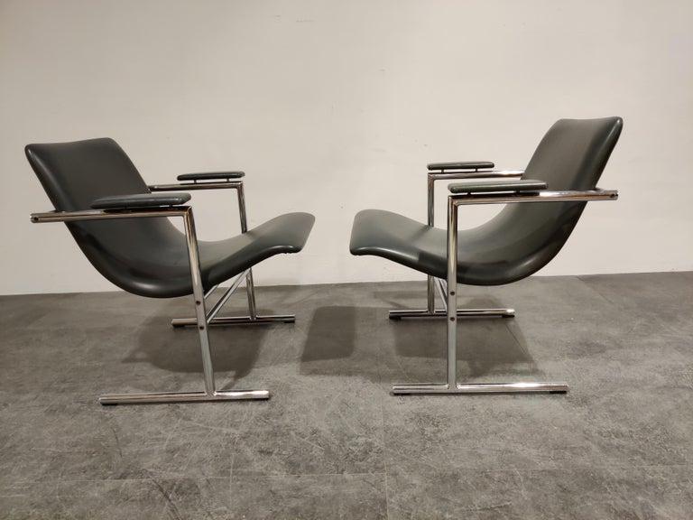 Pair of Oslo Lounge Chairs by Rudi Verelst, 1970s In Good Condition In Ottenburg, BE