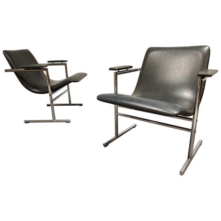 Pair of Oslo Lounge Chairs by Rudi Verelst, 1970s