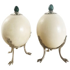 Pair of Ostrich Egg Accessories