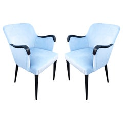 Pair of Osvaldo Borsani Armchairs for Tecno, Italy, 1960s