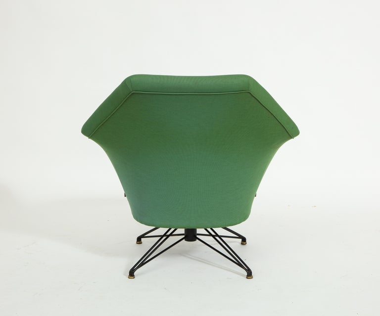 Pair of Osvaldo Borsani Green P32 Chairs for Tecno, Italy, 1950s For Sale 5