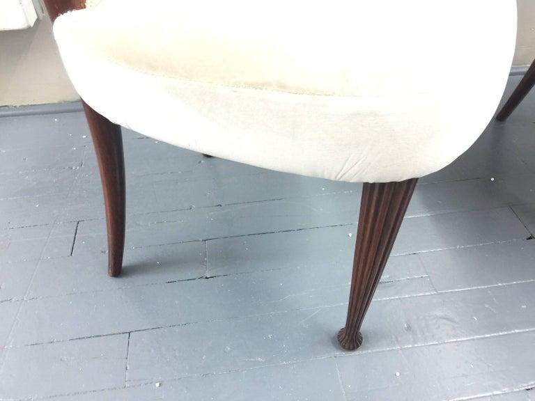 Osvaldo Borsani Chairs, Italy, 1950, new Velvet, Rosewood For Sale 10