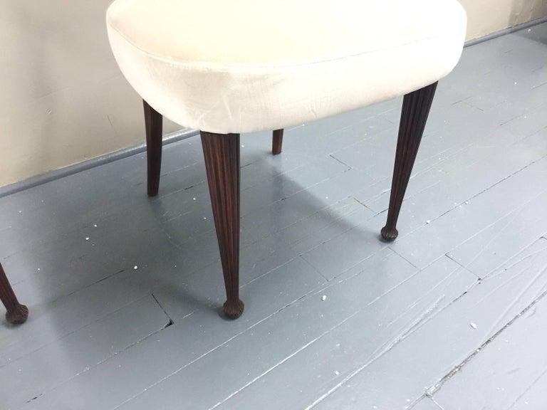 Osvaldo Borsani Chairs, Italy, 1950, new Velvet, Rosewood For Sale 2