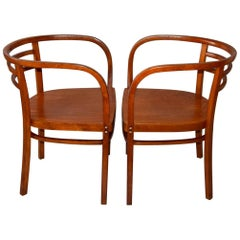 Pair of Otto Wagner Art Deco Chairs / Thonet, 1904
