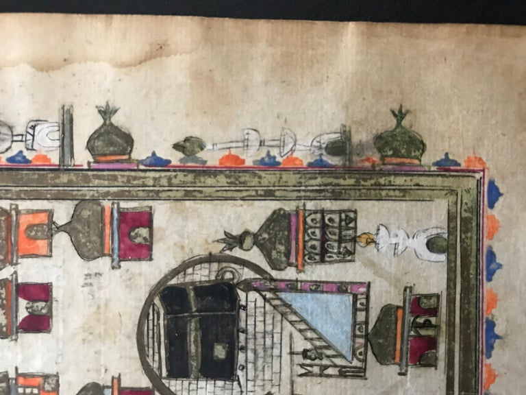Pair of Ottoman Prayer Book Leaves of Mecca and Medina, 18th Century For Sale 5