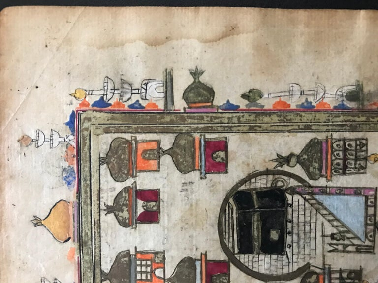 Pair of Ottoman Prayer Book Leaves of Mecca and Medina, 18th Century For Sale 6