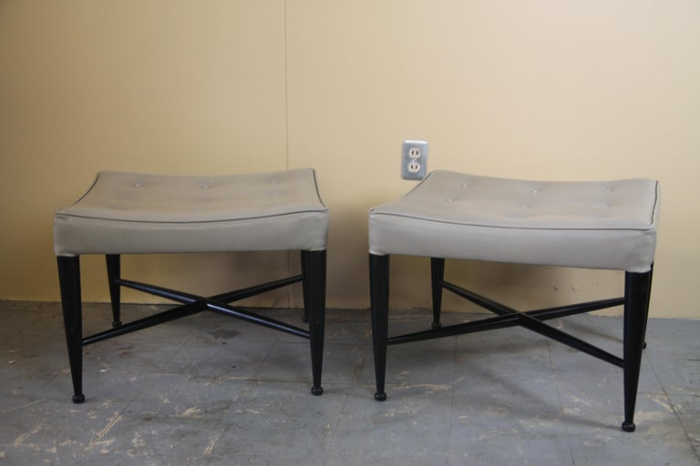 Mid-20th Century Pair of Ottomans by Edward Wormley for Dunbar For Sale