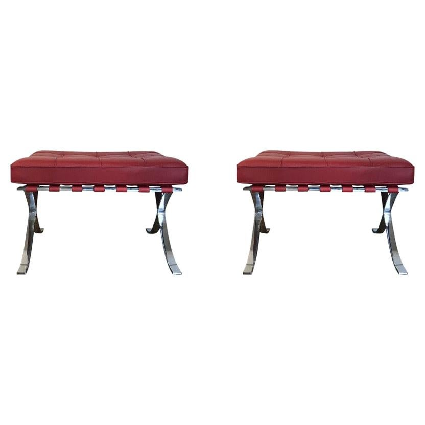 Pair of Ottomans by Mies van der Rohe for Knoll