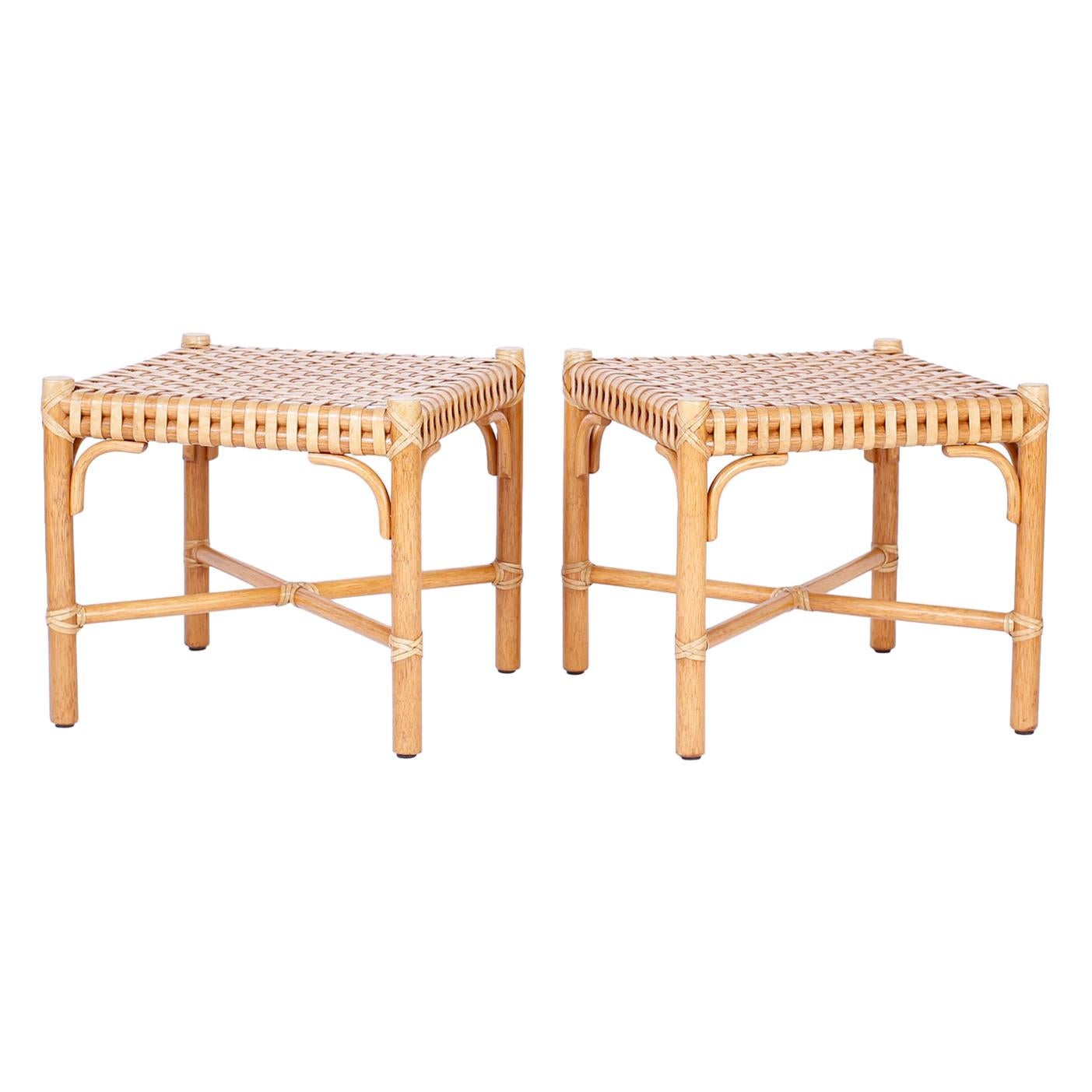 Pair of Ottomans or Foot Stools