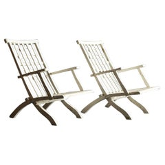 Pair of Outdoor Folding Armchairs by Robert Mallet-Stevens